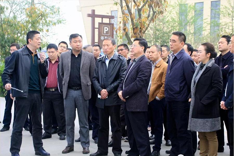 德阳市领导调研基于优必上模式的互联网+生态农庄花果新村